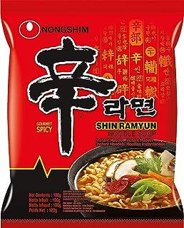 Nong Shim Instant Noodles Shin Ramyun - Paquete de 20 x 120