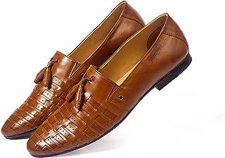 NICHE Tan Weaved Tassel Loafer