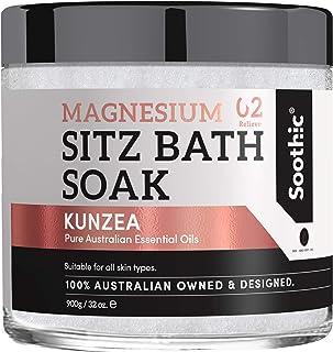 Soothic Sitz Bath Soak - Postpartum Hemorrhoid Treatment - 32 Oz Magnesium Epsom Bath Salt, with Skin Enriching Essential ...