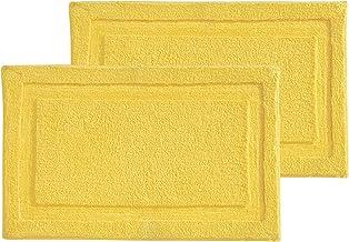 mDesign Soft Microfiber Polyester Non-Slip Rectangular Spa Mat, Plush Water Absorbent Accent Rug Bathroom Vanity, Bathtub/...