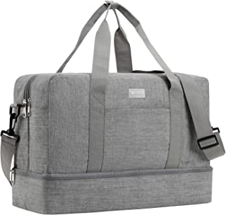 Foldable Duffle Bag for Travel Gym Sports Lightweight Luggage Duffle (Gray)