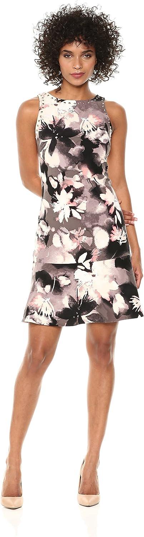 Ellen Tracy Womens Sleeveless Flounce Hem Dress Dress