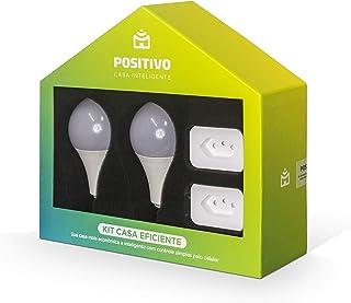 Kit Casa Eficiente Positivo Casa Inteligente, mais economia para sua casa conectada, contém 4 itens (2x Smart Plug Wi-Fi, ...