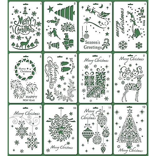 Large Christmas Stencils: Amazon com