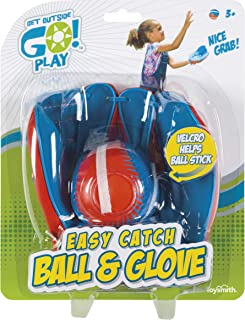 Get Outside Go! Easy Catch Ball & Glove Set Super Sport Outdoor Active Play Baseball by Toysmith (Packaging May Vary)