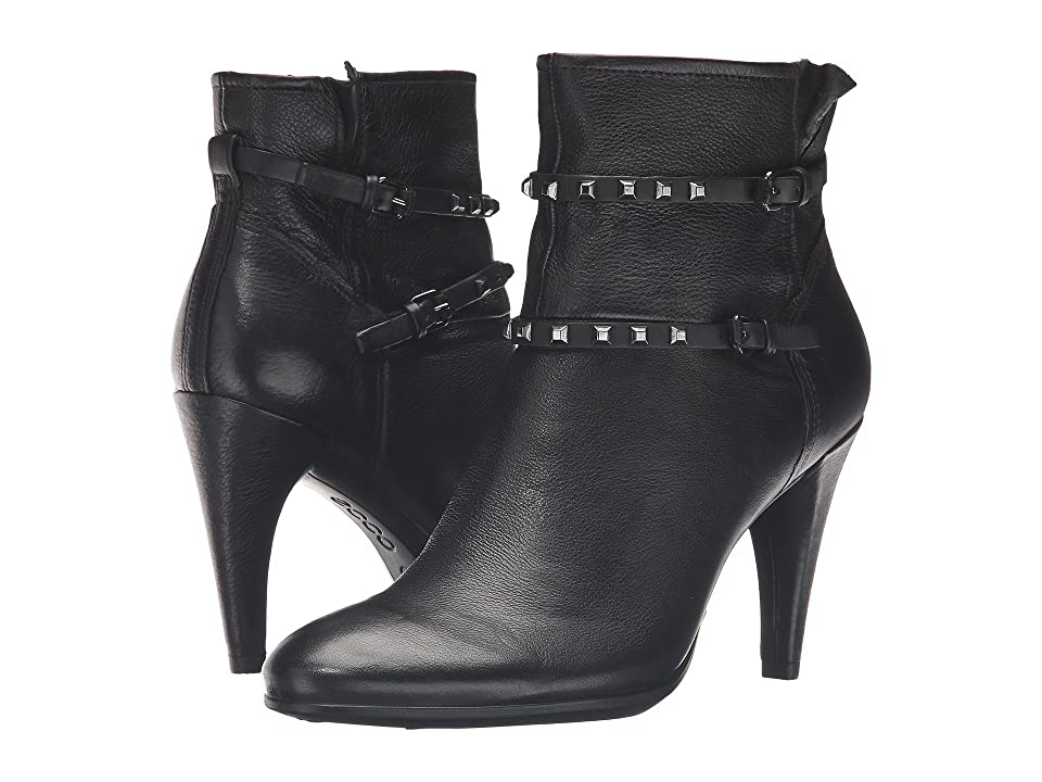 ECCO Shape 75 Sleek Boot (Black/Black Calf Leather/Cow Nubuck) Women