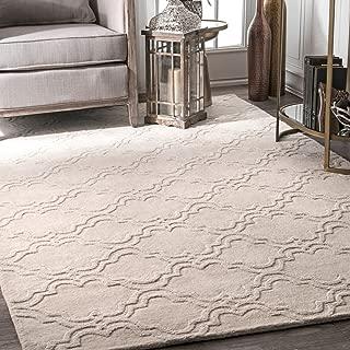 nuLOOM Wilhelmina Hand Tufted Wool Rug, 5' x 8', Cream