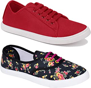 Shoefly Women Multicolour Latest Collection Sneakers Shoes-Pack of 2 (Combo-(2)-611-5003)