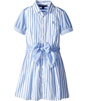 Striped Cotton Shirtdress (Big Kids)