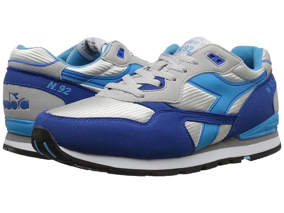 Diadora N-92 (Grey Alaska/Micro Blue) Athletic Shoes