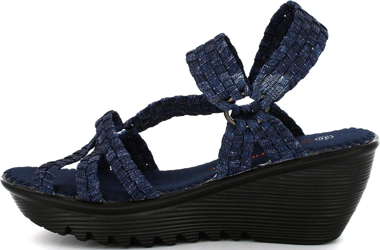 B M Bernie Mev New York Crystal Sandals voor dames, kristallen is een open en lichte wimhakken, wandelingen in de zomer en herfst Jeans