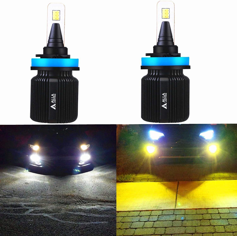 Alla Lighting H8 H9 H11 LED Switchback Fog Lights