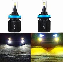 ALLA Lighting 8000Lm H11 H8 H16 H9 Dual Color Switchback H11 LED Headlight Bulb 6000K White / 3000K Amber Yellow LED H11 H8 Fog Lights Bulbs (Set of 2)