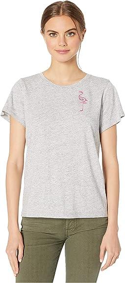 Heather Grey/Flamingo Embroidered
