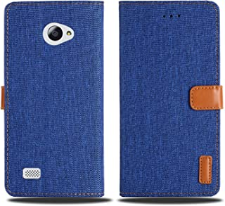 【 Viesa 】 新型モデル デニム デザイン ケース 手帳型 VAIO Phone A VPA0511S / VAIO Phone Biz VPB0511S 対応 バイオ 手帳ケース (ネイビー) 全面保護 ベストデニム材料 カード収納ポケット 横置きスタンド機能 スマホケース バイオフォンa vpa0511s バイオフォンbiz vpb0511s NAVY