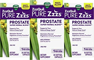 ZzzQuil Vicks Pure Zzzs Prostate Super Herbal Blend, Nighttime Melatonin Sleep Aid, Helps You Maintain Normal Nighttime Ur...