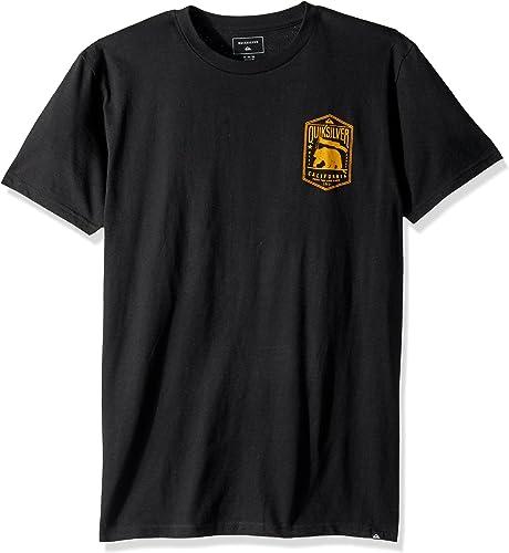 Quikargent Hommes's Cali marron Bear T-Shirt, noir, S