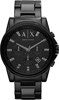 A|X Men's Black Stainless Steel Watch AX2093