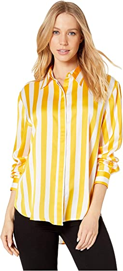 Awning Stripe Satin Shirt