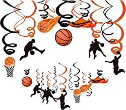 Kristin Paradise 30Ct Basketball Hanging Swirl Decorations, Party Supplies, Birthday Theme Decor for Boy Girl Baby Shower,...