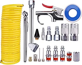 WYNNsky Air Compressor Accessory Kit, 1/4 Inch NPT Air Tool Kit with 1/4 Inch x 25Ft Coil..