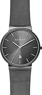 Men's Ancher Stainless Steel and Mesh Quartz Watch