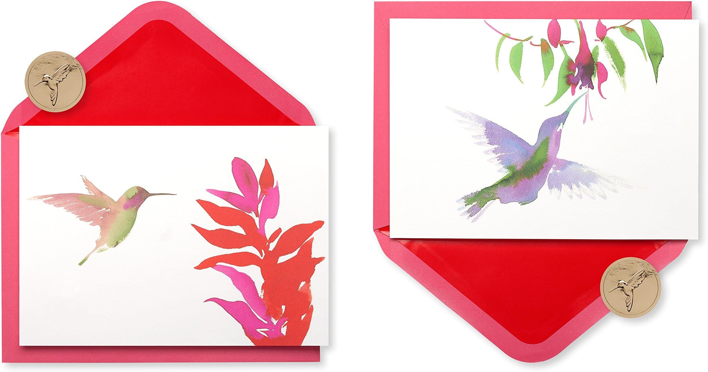 5 Hummingbird Cards Watercolor Birds Bright Hummingbird 5 Bird Note Cards 5 Blank Artist Cards Hummer Art Card 5 Bird Card Pack