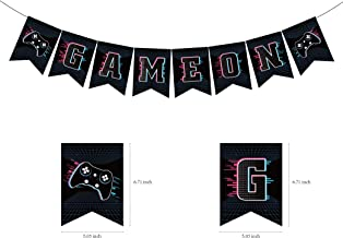 CC HOME Gamer Party Supplies,Video Game Party Supplies,Video Game Birthday Banner,Gaming Garland Bunting Banner for Boys Kids Adults Video Game Party Supplies Favors