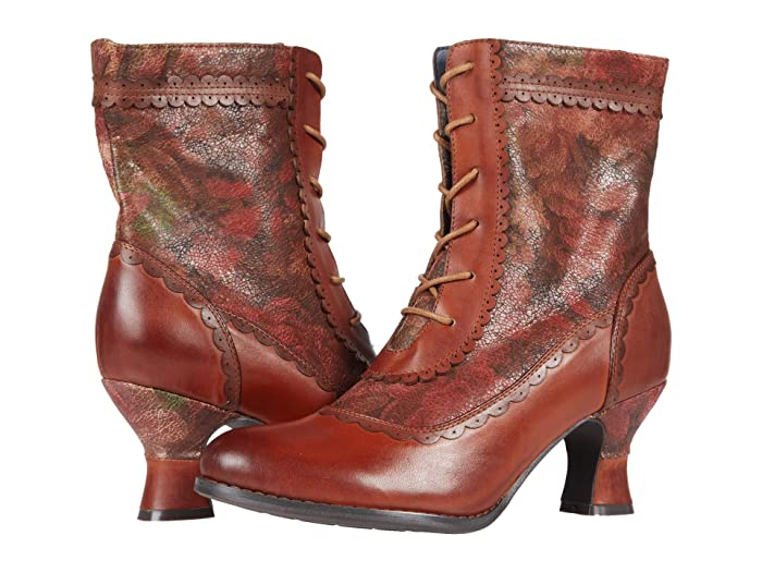 Vintage Boots, Retro Boots LArtiste by Spring Step Bewitch-Flora Brown Multi Womens Shoes $127.46 AT vintagedancer.com