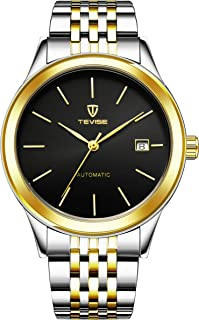 Tevise Casual Watch Analog Stainless Steel Band for Men 9006G-SGB