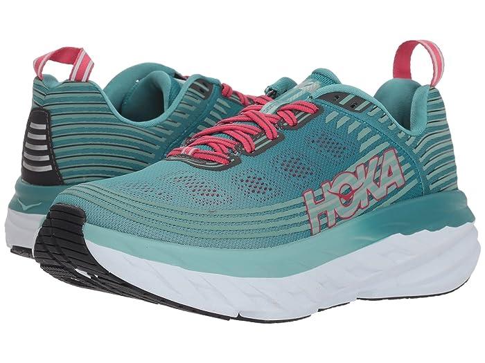 Hoka One One  Bondi 6 (Canton/Green/Blue Slate) Womens Running Shoes