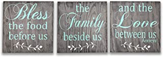 Bless The Food Wood Kitchen Wall Decor 3 pc. Sign Set