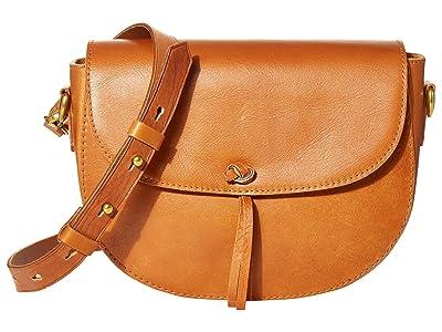 Madewell Tie Knot Saddle Bag Leather (Burnished Caramel) Handbags