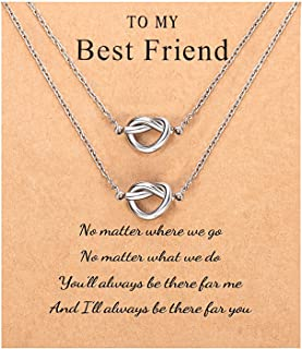 Sincere Best Friend Friendship BFF Necklace for 2 Forever Love Knot Infinity Matching Distance Bracelet Jewelry Bridesmaid...