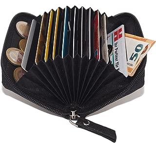 Tarjetero para tarjetas de crédito LEAS, Piel auténtica, negro - ''LEAS Card-Collection''