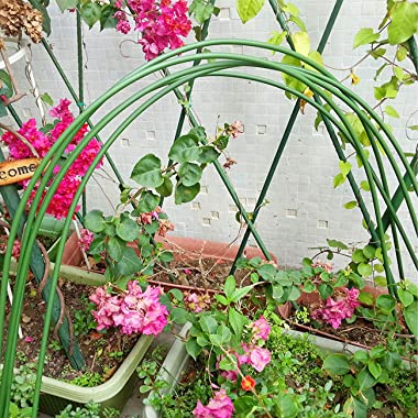 Greenhouse Hoops 6-Pack 4 Ft Garden Hoops Support for Plant Cover Rust Free Plastic, Dia 3.2mm (1/8 in)