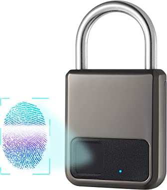 Fingerprint Padlock,Smart Padlock,Combination Lock, Suitable for House Door, Bookcase, Suitcase, Backpack, Gym, Bike, Office,