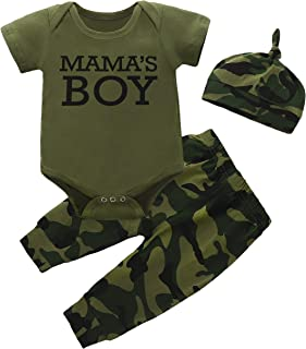 Baby Boy Girl Clothes Camouflage Romper Outfit Jumpsuit Top+Pants Shorts+Headband