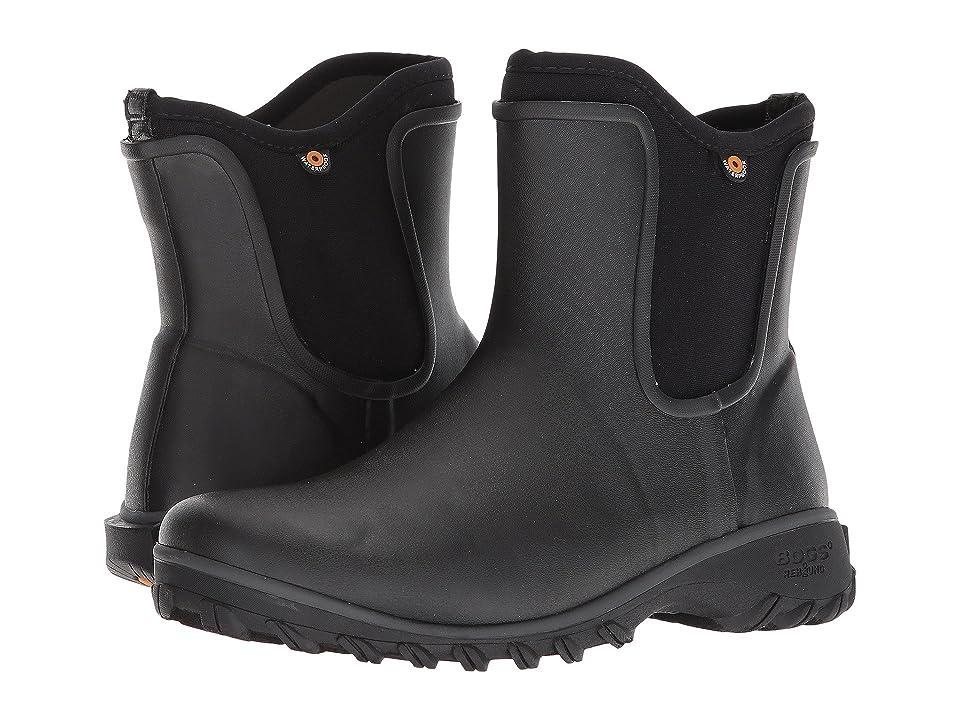 Bogs Sauvie Solid Slip-On Boot (Black) Women
