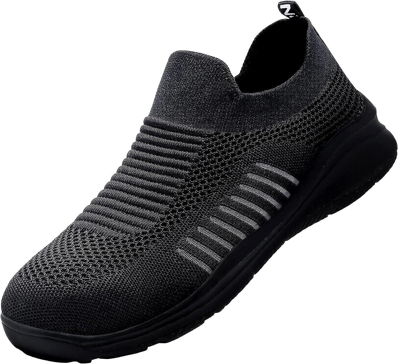 LARNMERN PLUS Zapatos de Seguridad Ligero Hombre Mujer Respirable Zapatillas Trabajo Anti-aplastamiento Antideslizante Cómodo (Negro, 36-47 EU)