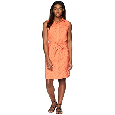 Jack Wolfskin Sonora Shibori Dress (Hot Coral All Over) Women