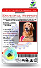 XpressID Pro Holographic Service Dog ID Card (Custom) Includes Registration to National Dog Registry