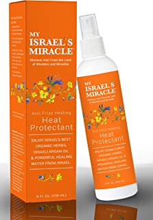 Heat Protector Spray – Anti Frizz Healing Heat Protectant with Argan Oil – Powerful Organic Haircare Herbs from Israel