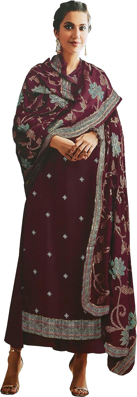 STELLACOUTURE Women's Ready to wear Georgette Indian wear Salwar Kameez Suit with Dupatta (2122-O)