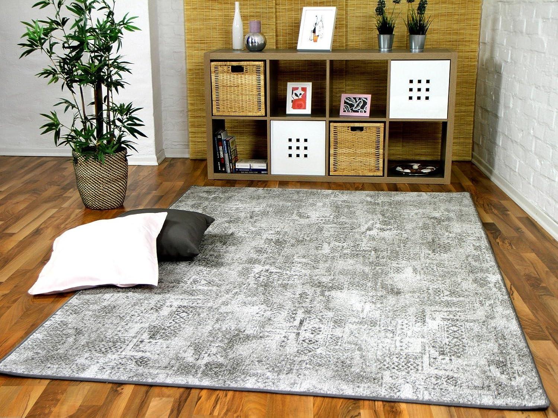 Designer Soft-Velours Teppich Vintage Grau in in in 24 Größen B072Q5TZRF b025a5