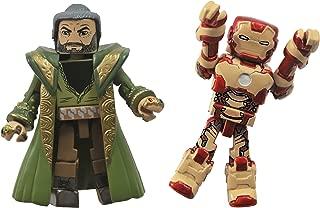 Diamond Select Toys Series 49 Marvel Minimates Iron Man 3: Iron Man Mark 47 and The Mandarin Action Figure