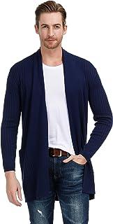 PAUL JONES Men's Long Sleeve Shawl Collar Open Front Long Cardigan Sweater