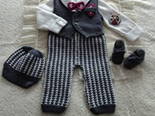 DollieBabies Knitting Pattern 61 - Baby Boy's Formal Suit