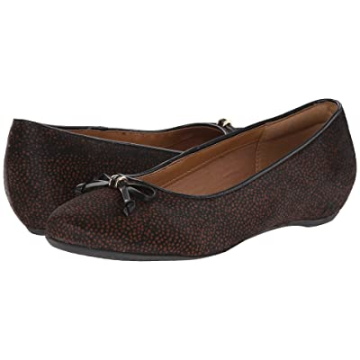 Clarks Alitay Giana (Black/Brown Spot Haircalf) Women