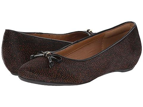 Womens Shoes Clarks Alitay Giana Black/Brown Spot Haircalf